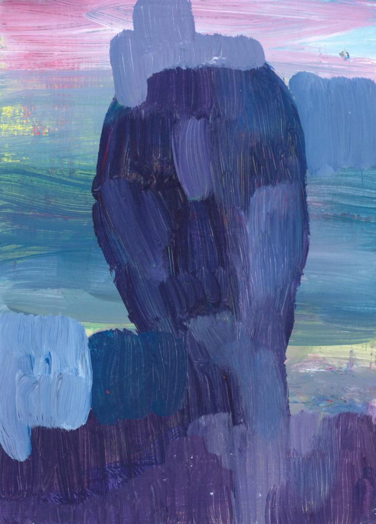 Sans titre, 2018, Huile sur papier, 20,5 x 14,8 cm