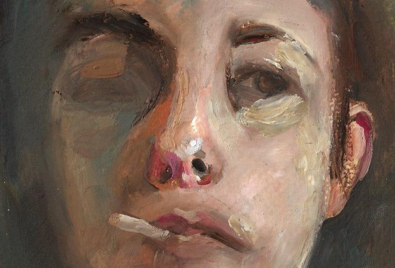 Sans titre, 2019, huile sur papier, 8,5 x 12 cm