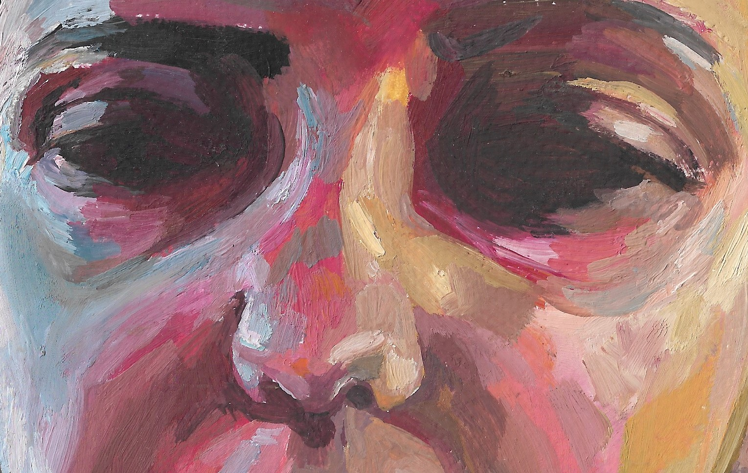 Adèle, 2018, huile sur papier, 9 x 13 cm