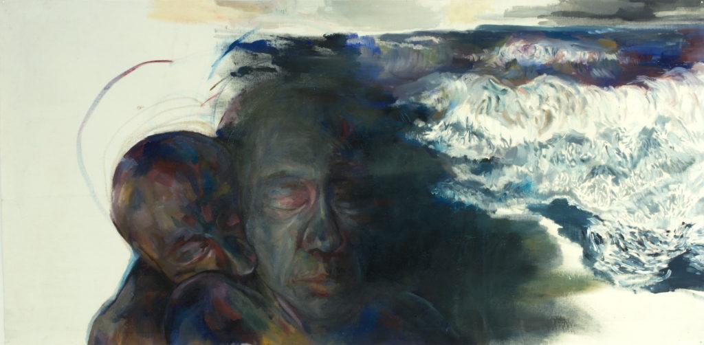 mémoire , 2018, Huile sur toile, 70x 155 cm