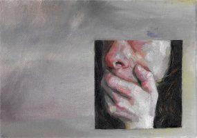 Dialectique, 2020, huile sur toile, 19 x 27 cm