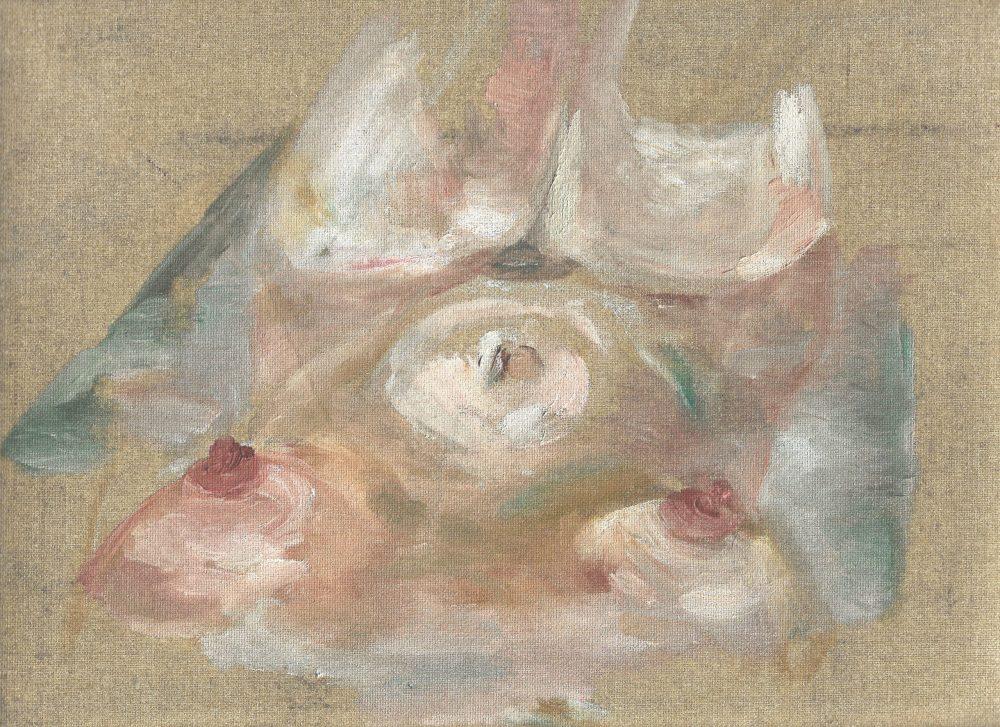 Corps, 2019, Huile sur toile, 27,5 x 35 cm